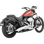 Vance & Hines Big Radius 2-Into-1 Exhaust - Chrome - Vance and Hines Cruiser Exhaust
