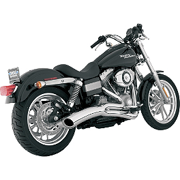 Vance & Hines Big Radius 2-Into-1 Exhaust - Chrome - 2007 Harley Davidson Dyna Wide Glide - FXDWG Vance & Hines Big Radius 2-Into-1 Exhaust - Black