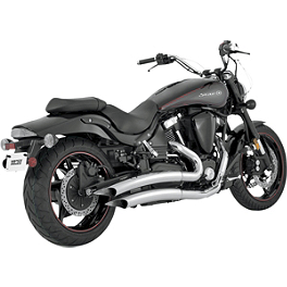 Vance & Hines Big Radius 2-Into-2 Exhaust - Chrome - 2005 Yamaha Road Star 1700 Warrior - XV17PC Vance & Hines Fuel Pak
