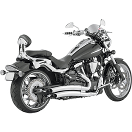 Vance & Hines Big Radius 2-Into-2 Exhaust - Chrome - 2008 Yamaha Raider 1900 - XV19C Vance & Hines Fuel Pak