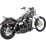 Vance & Hines Big Radius 2-Into-2 Exhaust - Black