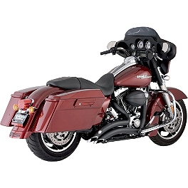 Vance & Hines Big Radius 2-Into-2 Exhaust - Black - 2009 Harley Davidson Electra Glide Standard - FLHT Vance & Hines EPA Compliant Twin Slash Slip-On Exhaust - Chrome