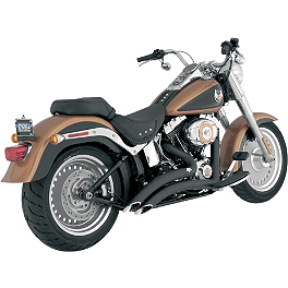 Vance & Hines Big Radius 2-Into-2 Exhaust - Black - 2008 Harley Davidson Fat Boy - FLSTF Vance & Hines Fuel Pak