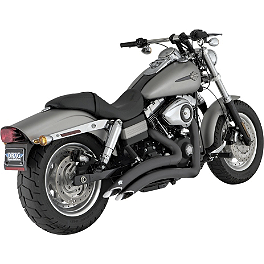 Vance & Hines Big Radius 2-Into-2 Exhaust - Black - 2008 Harley Davidson Dyna Super Glide Custom - FXDC Vance & Hines Big Radius 2-Into-1 Exhaust - Black