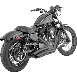 Vance & Hines Big Radius 2-Into-2 Exhaust - Black - 2008 Harley Davidson Sportster Low 883 - XL883L Vance & Hines Straightshots Exhaust - Chrome