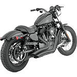 Vance & Hines Big Radius 2-Into-2 Exhaust - Black - Vance and Hines Cruiser Products
