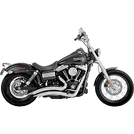 Vance & Hines Big Radius 2-Into-2 Exhaust - Chrome - 2012 Harley Davidson Road King - FLHR Vance & Hines Competition Series Slip-On Exhaust - Black
