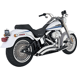 Vance & Hines Big Radius 2-Into-2 Exhaust - Chrome - 2005 Harley Davidson Night Train - FXSTB Vance & Hines Big Radius 2-Into-2 Exhaust - Black