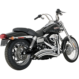 Vance & Hines Big Radius 2-Into-2 Exhaust - Chrome - 2008 Harley Davidson Dyna Low Rider - FXDL Vance & Hines Big Radius 2-Into-1 Exhaust - Black