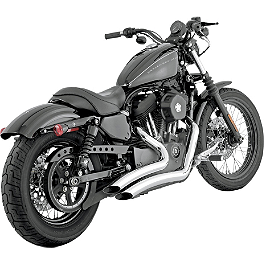 Vance & Hines Big Radius 2-Into-2 Exhaust - Chrome - 2004 Harley Davidson Sportster Custom 883 - XL883C Vance & Hines Big Radius 2-Into-2 Exhaust - Black
