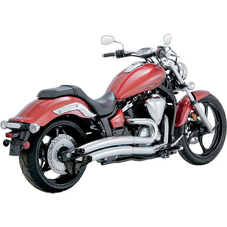 Vance & Hines Big Radius 2-Into-2 Exhaust - Chrome - Main