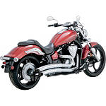 Vance & Hines Big Radius 2-Into-2 Exhaust - Chrome - VANCE-HINES-BIG-RADIUS-2INTO2 Cruiser Exhaust