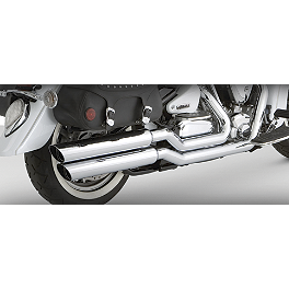 Vance & Hines Big Shots Staggered Exhaust - Chrome - 2007 Yamaha Road Star 1700 Midnight - XV17AM Vance & Hines Big Shots Quiet Baffle