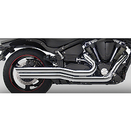 Vance & Hines Big Shots Staggered Exhaust - Chrome - 2007 Yamaha Road Star 1700 Midnight Warrior - XV17PCM Vance & Hines Big Shots Quiet Baffle
