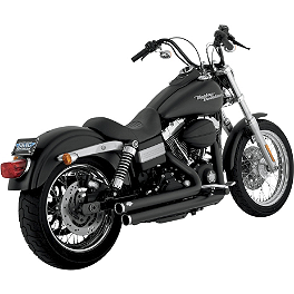Vance & Hines Big Shots Staggered Exhaust - Black - Vance & Hines Fuel Pak