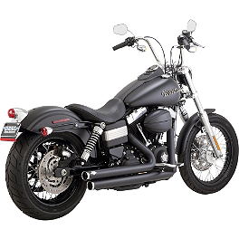 Vance & Hines Big Shots Staggered Exhaust - Black - Vance & Hines Big Radius 2-Into-1 Exhaust - Black