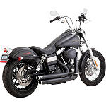 Vance & Hines Big Shots Staggered Exhaust - Black -  Metric Cruiser Full Exhaust Systems