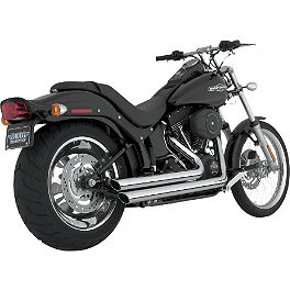 Vance & Hines Big Shots Staggered Exhaust - Chrome - 2004 Harley Davidson Night Train - FXSTBI Vance & Hines Big Shots Staggered Exhaust - Black