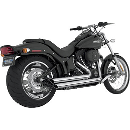 Vance & Hines Big Shots Staggered Exhaust - Chrome - Vance & Hines Power Shots Exhaust - Chrome