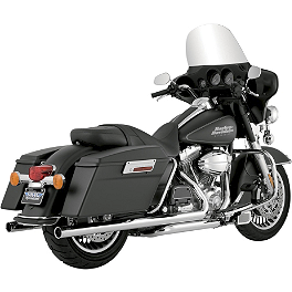 Vance & Hines Big Shots Duals Exhaust - Chrome - 2010 Harley Davidson Road King - FLHR Vance & Hines EPA Compliant Twin Slash Slip-On Exhaust - Chrome