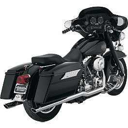 Vance & Hines Big Shots Duals Exhaust - Chrome - Vance & Hines EPA Compliant Twin Slash Slip-On Exhaust - Chrome