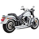 Vance & Hines Big Shots Long Exhaust - Chrome -  Metric Cruiser Full Exhaust Systems