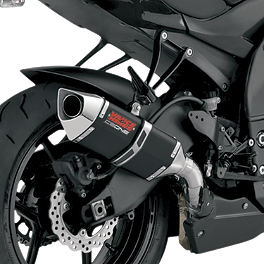 Vance & Hines CS One Slip-On Single Exhaust - Black - Akrapovic Slip-On Exhaust - Carbon Fiber Single With Stainless Link Pipe