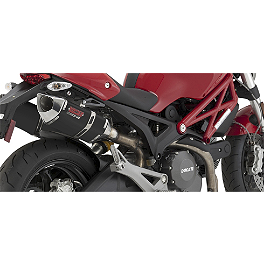 Vance & Hines CS One Slip-On Exhaust - Black - 2010 Ducati Monster 1100 Vance & Hines CS One Slip-On Exhaust - Black