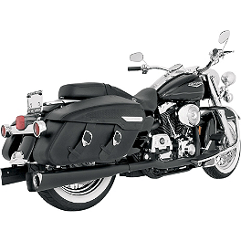 Vance & Hines Competition Series Slip-On Exhaust - Black - 2009 Harley Davidson Road King - FLHR Vance & Hines Power Duals Headpipe System - Chrome