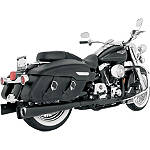 Vance & Hines Competition Series Slip-On Exhaust - Black -  Metric Cruiser Slip On Exhaust Systems