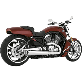 Vance & Hines Competition Series Slip-On Exhaust - Chrome - Dynojet Power Commander 5 PTi