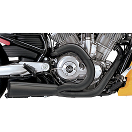 Vance & Hines Competition Series 2-Into-1 Exhaust - Black - 2004 Harley Davidson Softail Standard - FXSTI Vance & Hines Longshots Exhaust - Chrome