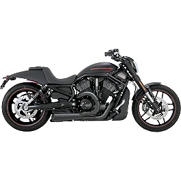 Vance & Hines Competition Series 2-Into-1 Exhaust - Black - Vance & Hines Fuel Pak