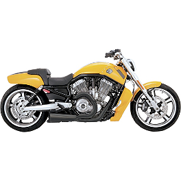 Vance & Hines Competition Series 2-Into-1 Exhaust - Black - 2010 Harley Davidson V-Rod Muscle - VRSCF Vance & Hines Competition Series Slip-On Exhaust - Chrome
