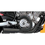 Vance & Hines Competition Series 2-Into-1 Exhaust - Black - Vance and Hines Cruiser Exhaust