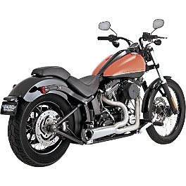 Vance & Hines Competition Series 2-Into-1 Exhaust - Brushed Stainless - 2013 Harley Davidson Heritage Softail Classic - FLSTC Vance & Hines Big Radius 2-Into-1 Exhaust - Black