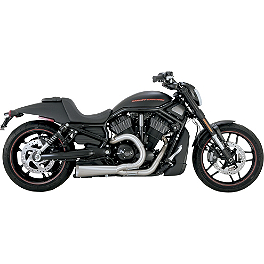 Vance & Hines Competition Series 2-Into-1 Exhaust - Brushed Stainless - 2011 Harley Davidson Dyna Wide Glide - FXDWG Vance & Hines Big Radius 2-Into-1 Exhaust - Black