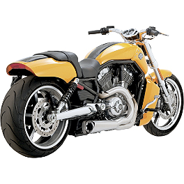 Vance & Hines Competition Series 2-Into-1 Exhaust - Brushed Stainless - 2010 Harley Davidson V-Rod Muscle - VRSCF Vance & Hines Competition Series Slip-On Exhaust - Chrome