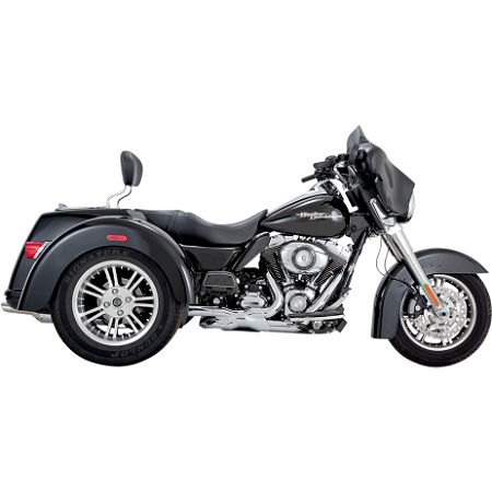 Vance & Hines Deluxe Slip-On Exhaust - Chrome - Main