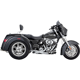 Vance & Hines Deluxe Slip-On Exhaust - Chrome - Vance & Hines Twin Slash Staggered Exhaust - Chrome