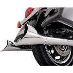 "Vance & Hines 3"" Fishtail Slip-On Exhaust - Chrome - Vance and Hines Cruiser Exhaust"