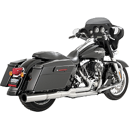 Vance & Hines Hi-Output 2-Into-1 Exhaust - Stainless Steel - 2010 Harley Davidson Street Glide - FLHX Vance & Hines Competition Series Slip-On Exhaust - Black