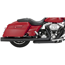 Vance & Hines Hi-Output Slip-On Exhaust - Black - 2010 Harley Davidson Road King - FLHR Vance & Hines EPA Compliant Twin Slash Slip-On Exhaust - Chrome