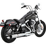 Vance & Hines Hi-Output 2-Into-1 Exhaust - Stainless Steel - VANCE-HINES-HIOUTPUT-2INTO1--STAINLESS Cruiser Exhaust