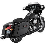 Vance & Hines Monster Ovals Slip-On Exhaust - Black With Chrome Tips