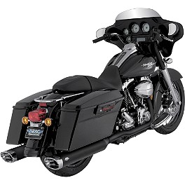 Vance & Hines Monster Ovals Slip-On Exhaust - Black With Chrome Tips - Vance & Hines Big Shots Duals Exhaust - Black