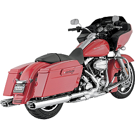 Vance & Hines Monster Ovals Slip-On Exhaust - Chrome With Chrome Tips - 2010 Harley Davidson Road King - FLHR Vance & Hines EPA Compliant Twin Slash Slip-On Exhaust - Chrome