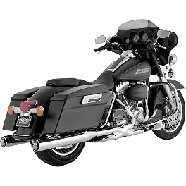 Vance & Hines Monster Rounds Slip-On Exhaust - Chrome With Chrome Tips - 2008 Harley Davidson Electra Glide Standard - FLHT Vance & Hines Big Shots Duals Exhaust - Black