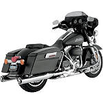Vance & Hines Monster Rounds Slip-On Exhaust - Chrome With Chrome Tips - Vance and Hines Cruiser Exhaust