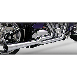 Vance & Hines Pro Pipe HS 2-Into-1 Exhaust - 2000 Yamaha Road Star 1600 - XV1600A Vance & Hines Big Shots Quiet Baffle
